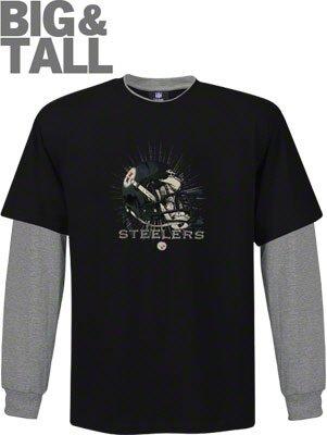 e8cda34c9 Big and Tall Pittsburgh Steelers Long Sleeve Shirt