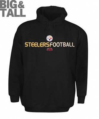 c696f89f3 Pittsburgh Steelers Big and Tall Black Hooded Sweatshirt