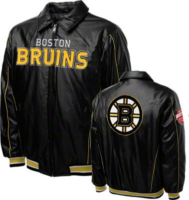 boston bruins big and tall leather jacket
