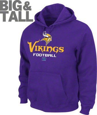 Minnesota Vikings Big and Tall Hooded Sweatshirt b1d82c7de