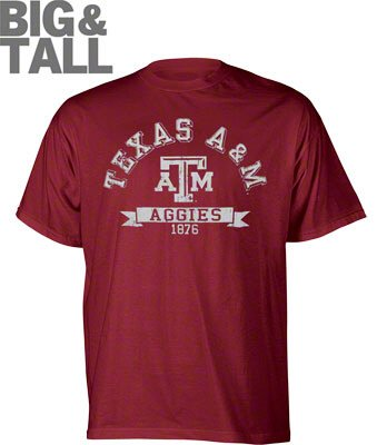 Big Tall Texas Am Aggies T