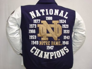 Notre Dame Big and Tall Jacket